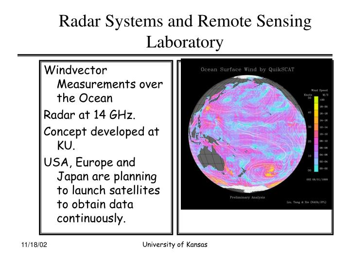 Radar systems and remote sensing laboratory