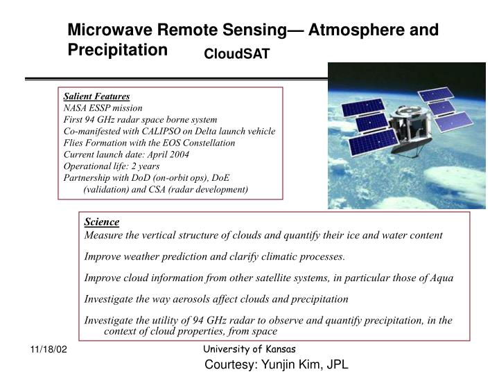 Microwave Remote Sensing— Atmosphere and Precipitation
