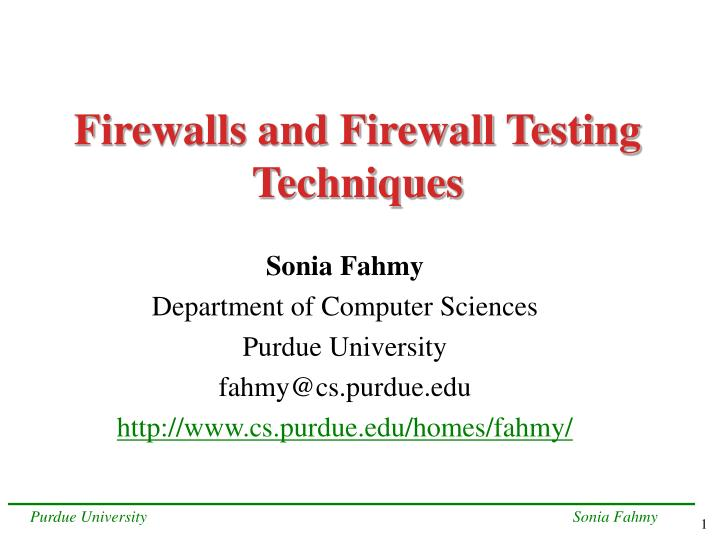 firewalls and firewall testing techniques n.