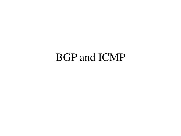 bgp and icmp n.