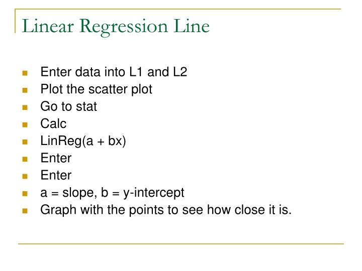 Linear Regression Line