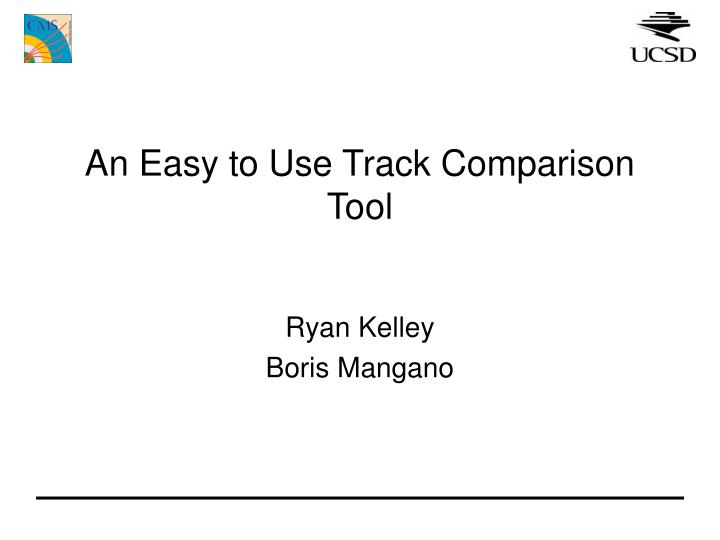 An easy to use track comparison tool