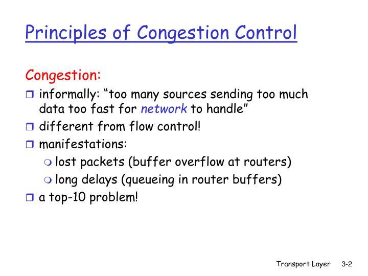 Principles of congestion control