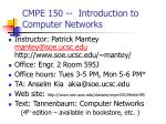 cmpe 150 introduction to computer networks