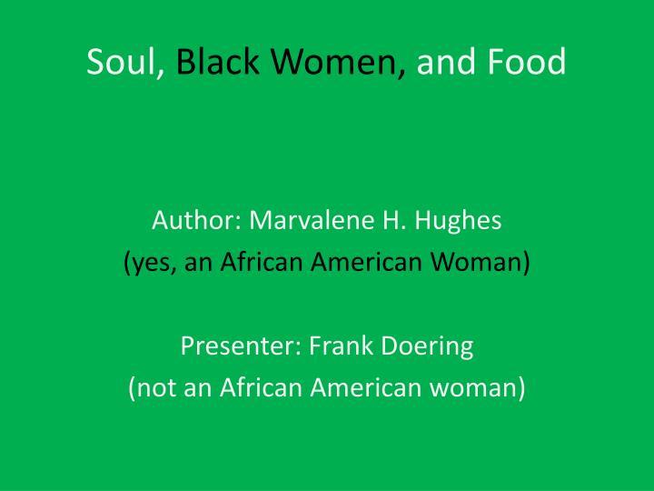 soul black women and food n.