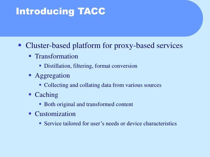 Cluster-based platform for proxy-based services
