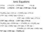 ionic equations1