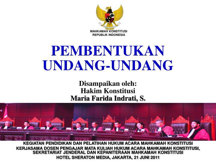 Pembentukan undang undang
