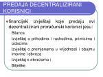 predaja decentralizirani korisnici1