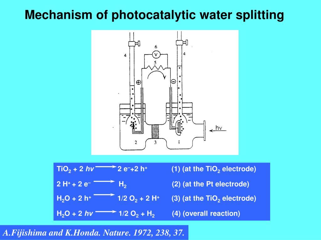 PPT - Recent Progress of Photocatalytic Water Splitting and