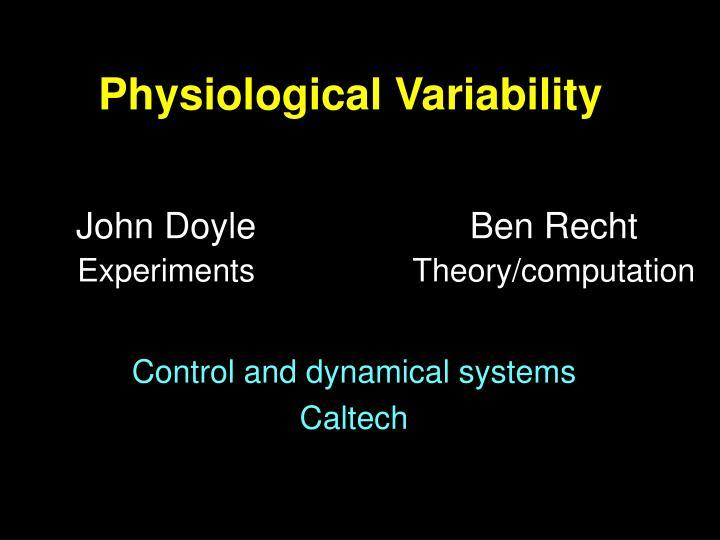 physiological variability n.