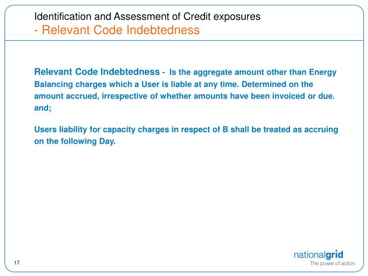 Identification and Assessment of Credit exposures