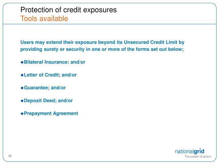 Protection of credit exposures