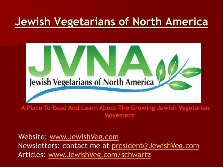 Jewish Vegetarians of North America