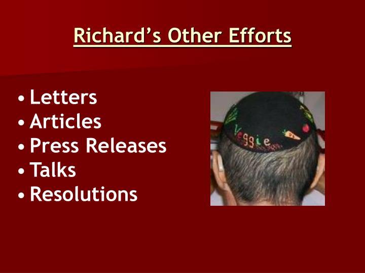 Richard's Other Efforts