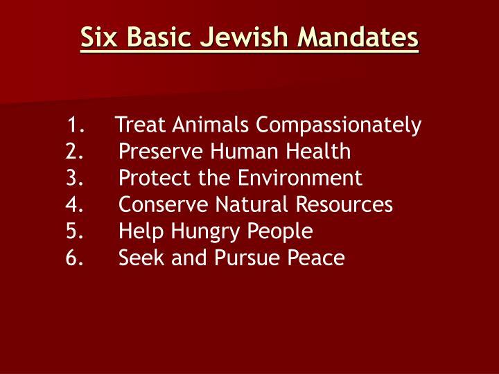 Six Basic Jewish Mandates