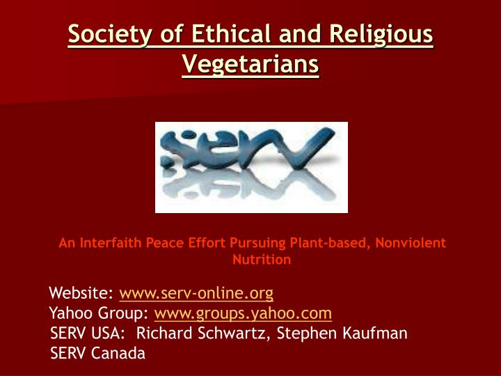 Society of Ethical and Religious Vegetarians