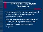 protein sorting signal sequences