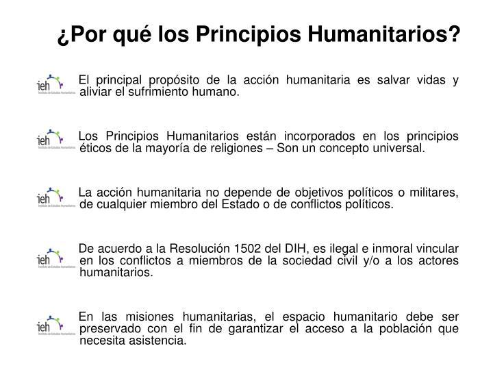 ¿Por qué los Principios Humanitarios?