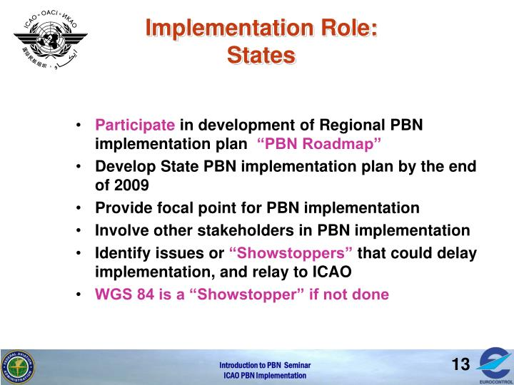 Implementation Role: States