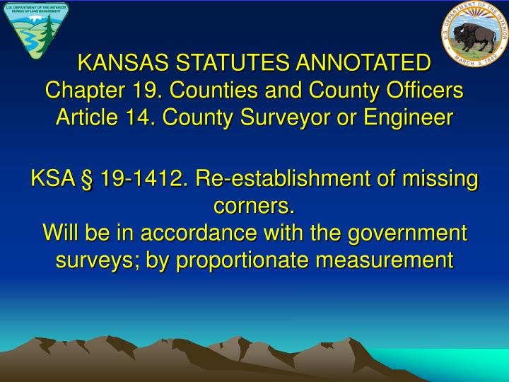 KANSAS STATUTES ANNOTATED