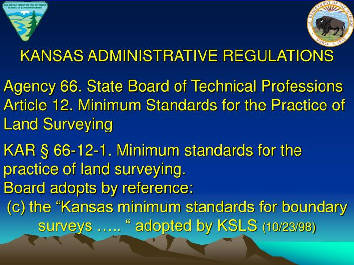 KANSAS ADMINISTRATIVE REGULATIONS