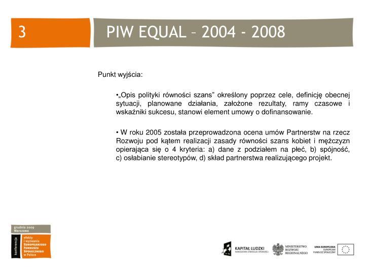 Piw equal 2004 2008