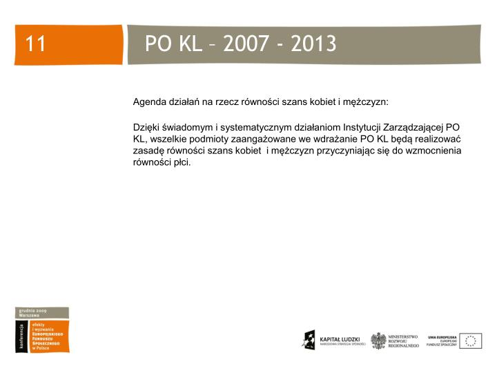 PO KL – 2007 - 2013