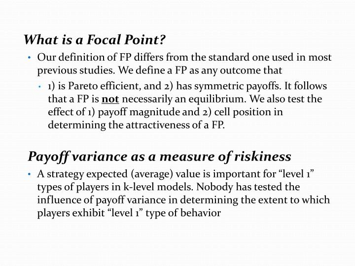 What is a Focal Point?