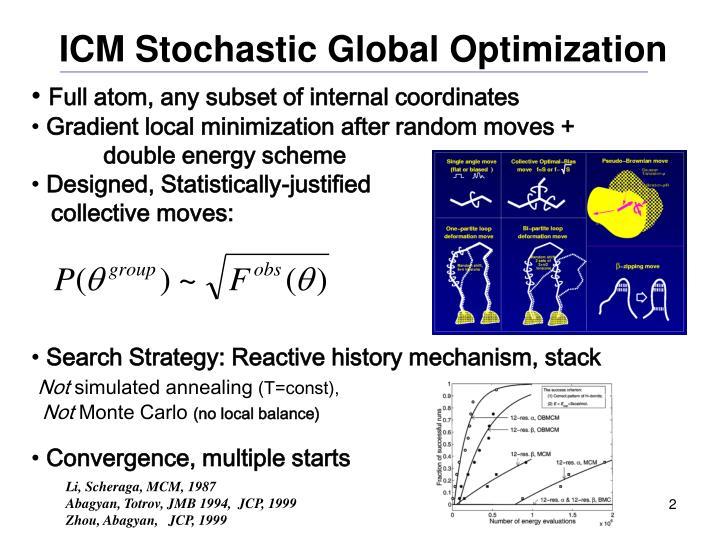 Icm stochastic global optimization