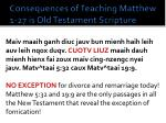 consequences of teaching matthew 1 27 is old testament scripture