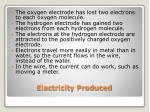 electricity produced