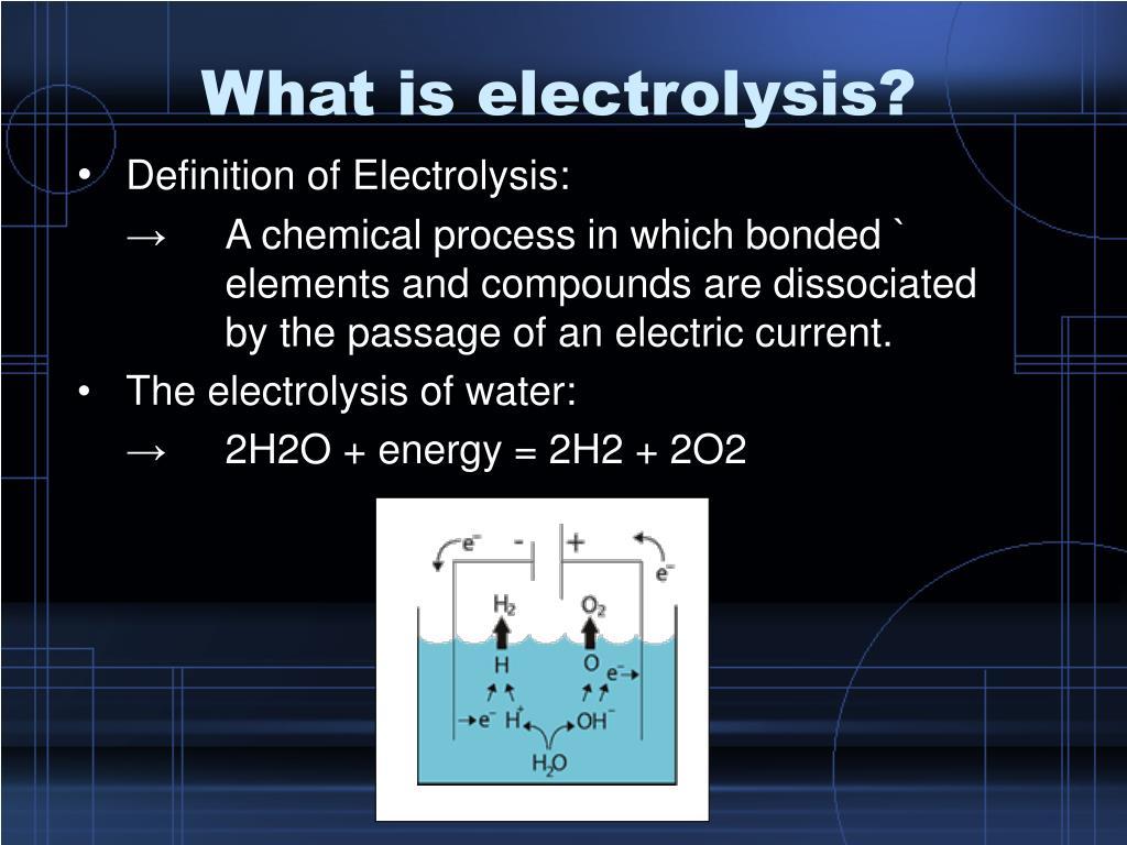 PPT - Electrolysis PowerPoint Presentation - ID:3366458