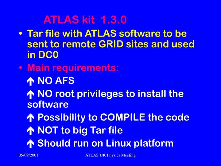 ATLAS kit  1.3.0