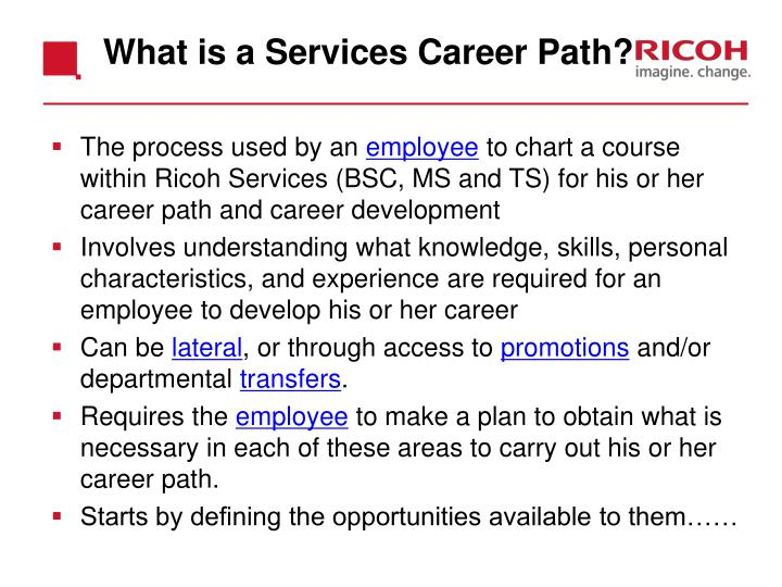 What is a Services Career Path?