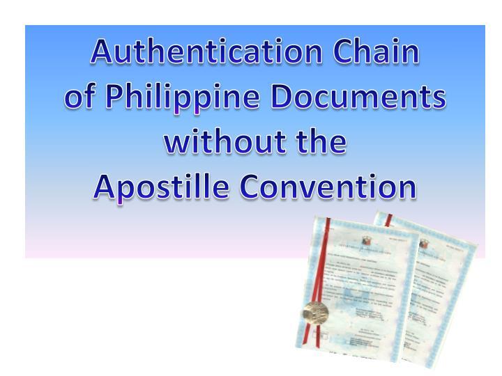 Authentication Chain
