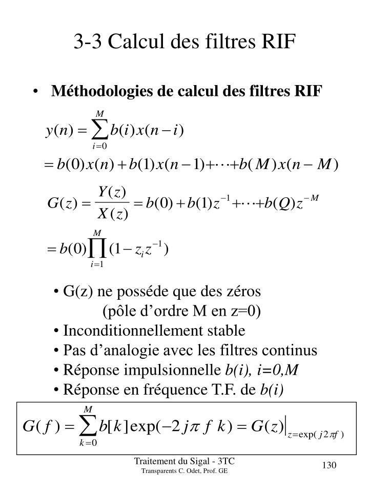 3 3 calcul des filtres rif n.