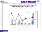 casos y tasas de notificaci n de efe regi n sur se 1 a 20 a os 2012 2013 argentina