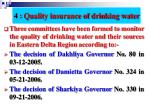 4 quality insurance of drinking water