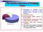 the quality insurance of drinking water