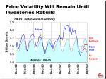 price volatility will remain until inventories rebuild
