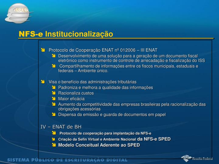 Protocolo de Cooperação ENAT nº 012006 – III ENAT