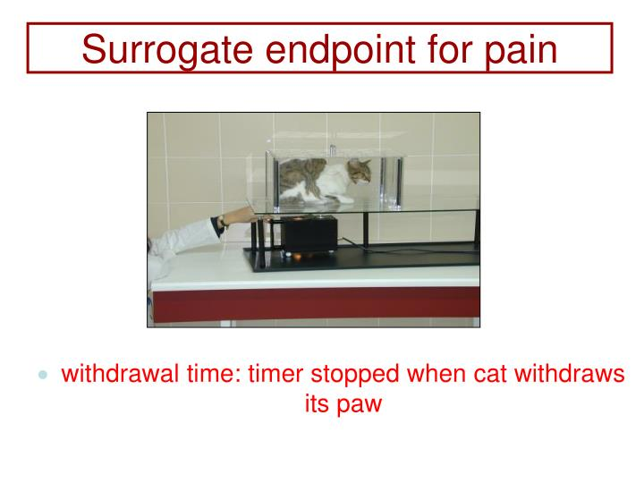 Surrogate endpoint for pain