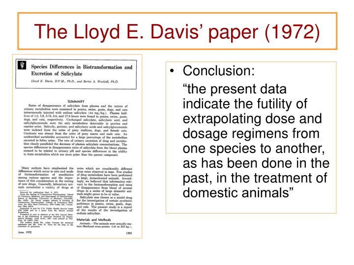 The Lloyd E. Davis' paper (1972)