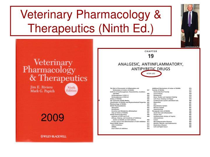 Veterinary Pharmacology & Therapeutics (Ninth Ed.)