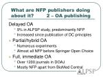 what are nfp publishers doing about it 2 oa publishing
