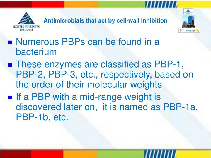 Antimicrobials that act by cell-wall inhibition