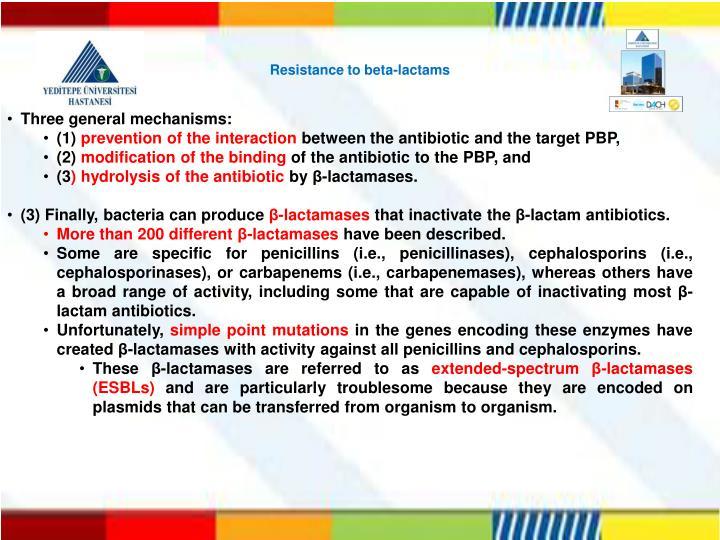Resistance to beta-lactams