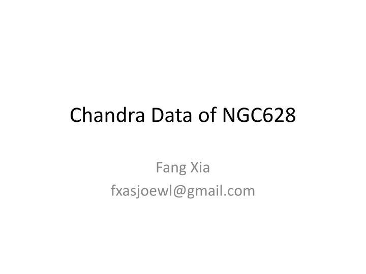 chandra data of ngc628 n.