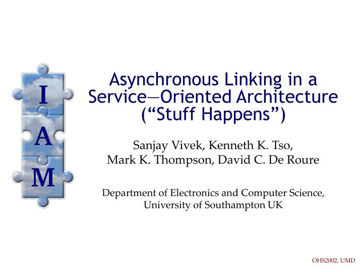 asynchronous linking in a service oriented architecture stuff happens n.